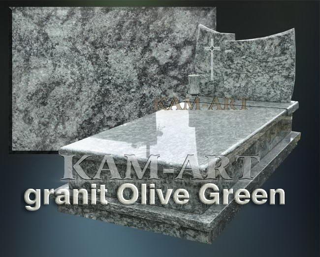 nagrobek-z-zgranitu-Olive-Green-Kraków