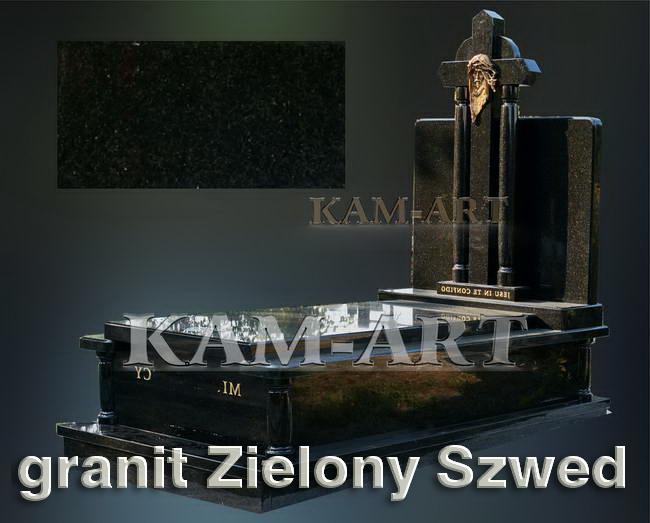nagrobek-z-zgranitu-Zielony-Szwed-Kraków