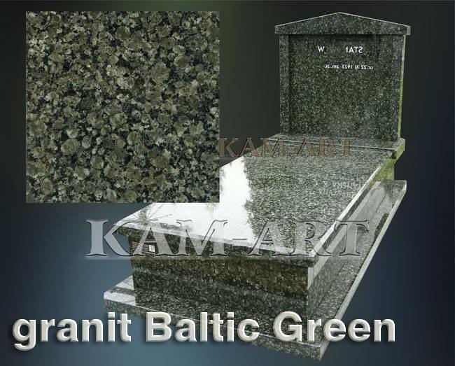 nagrobek z granitu Baltic Green