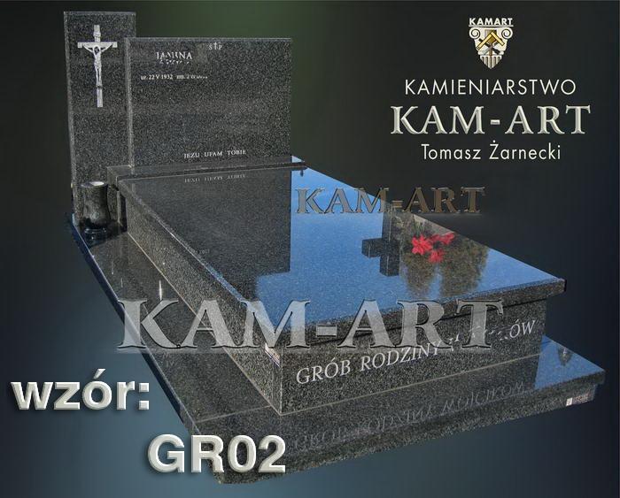 grobowiec granitowy kraków nagrobek na piwnicę w Krakowie 02