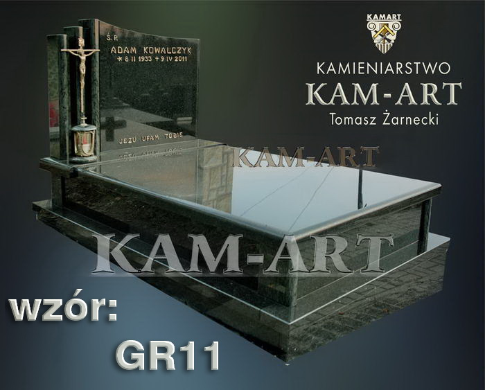 grobowiec granitowy kraków nagrobek na piwnicę w Krakowie gr11