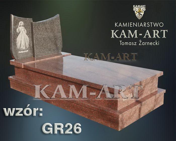 grobowiec granitowy kraków nagrobek na piwnicę w Krakowie 26