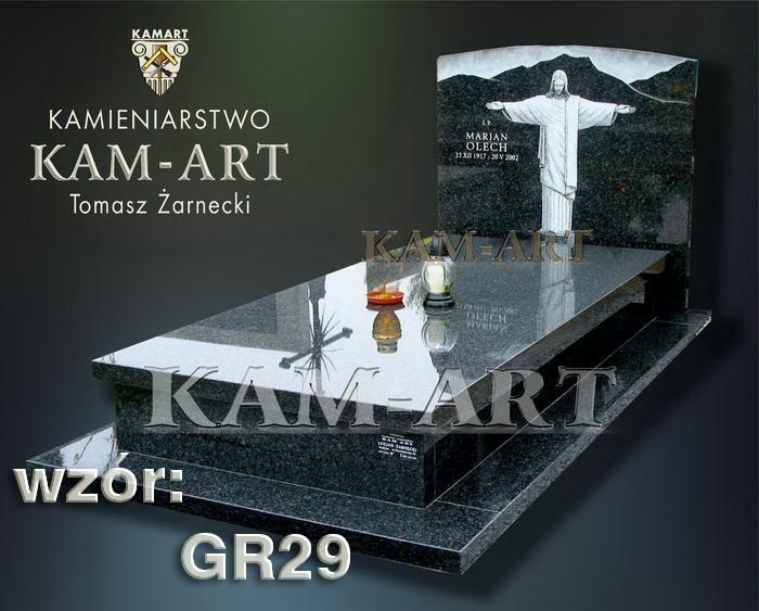 grobowiec granitowy kraków nagrobek na piwnicę w Krakowie 29