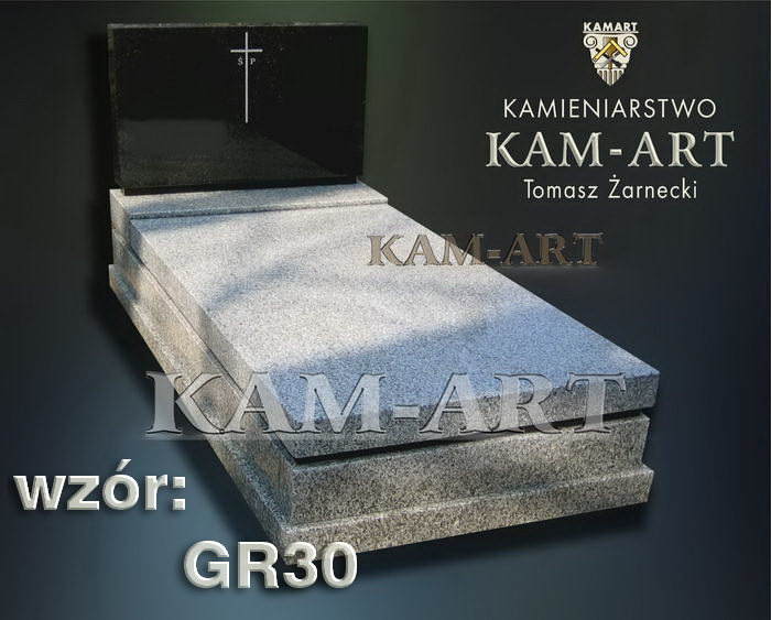 grobowiec granitowy kraków nagrobek na piwnicę w Krakowie 30