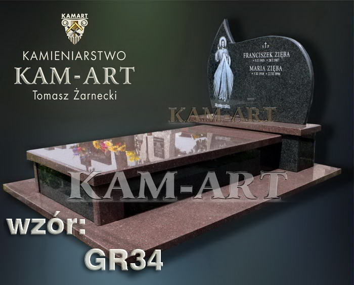 grobowiec granitowy kraków nagrobek na piwnicę w Krakowie 34