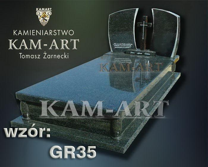 grobowiec granitowy kraków nagrobek na piwnicę w Krakowie 35