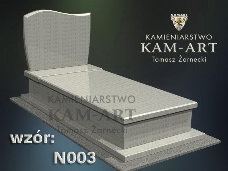 wzór nagrobka granitowego 3 kamieniarstwo Kraków