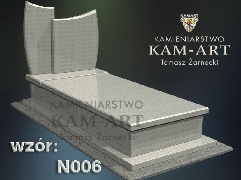wzór nagrobka granitowego kamieniarstwo Kraków 6