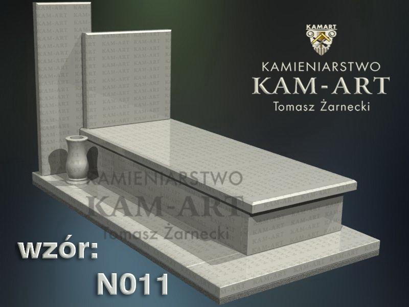 wzór nagrobka granitowego kamieniarstwo Kraków 11