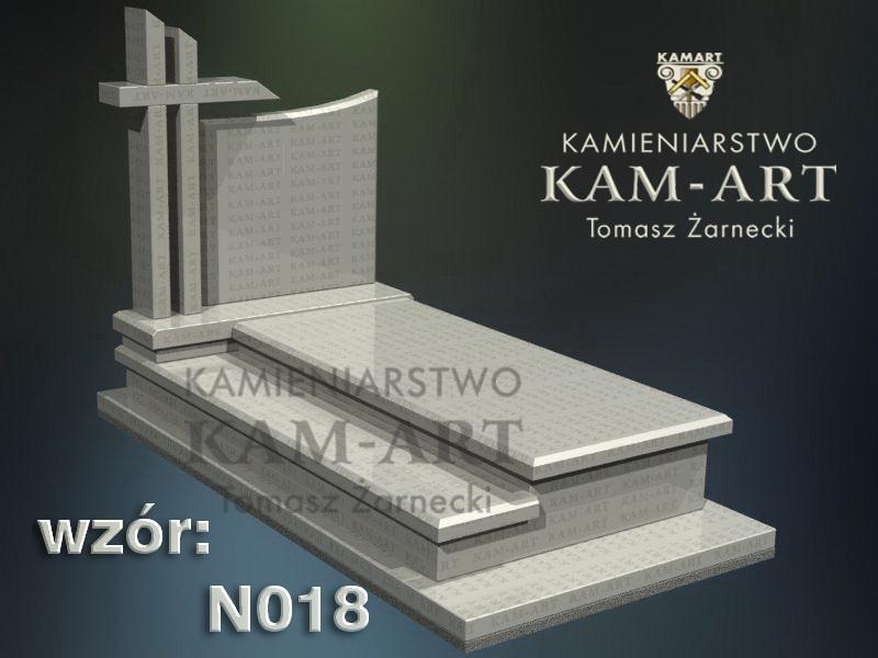 wzór nagrobka granitowego kamieniarstwo Kraków 18