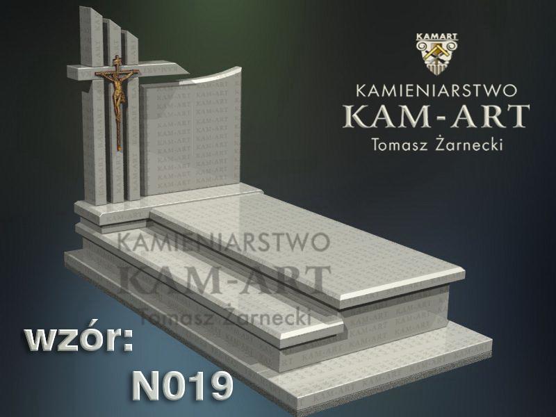 wzór nagrobka granitowego kamieniarstwo Kraków 19