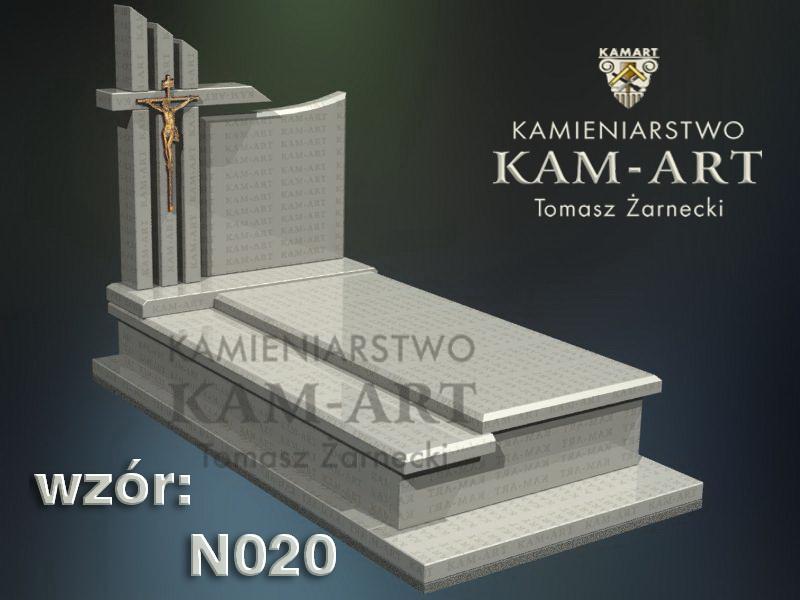 wzór nagrobka granitowego kamieniarstwo Kraków 20