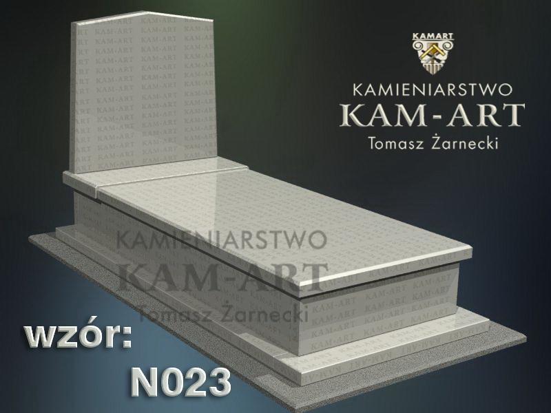 wzór nagrobka granitowego kamieniarstwo Kraków 23
