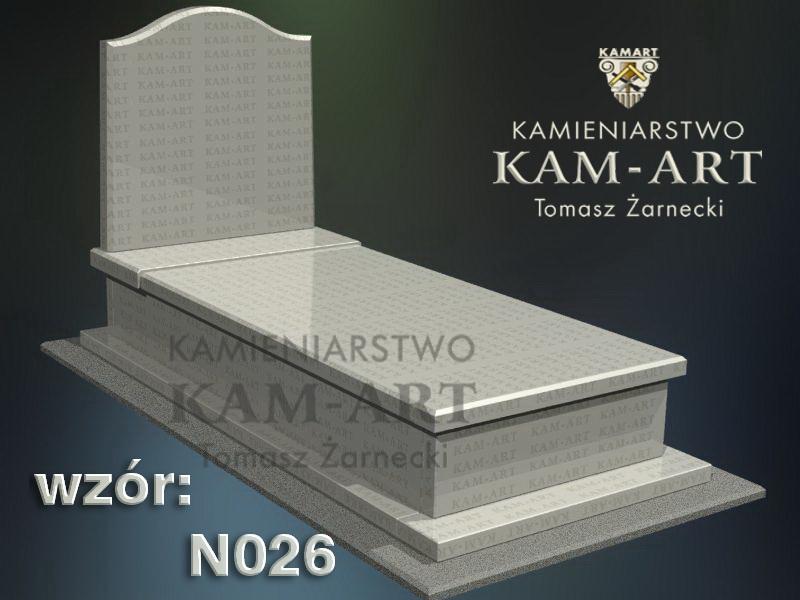 wzór nagrobka granitowego kamieniarstwo Kraków 26