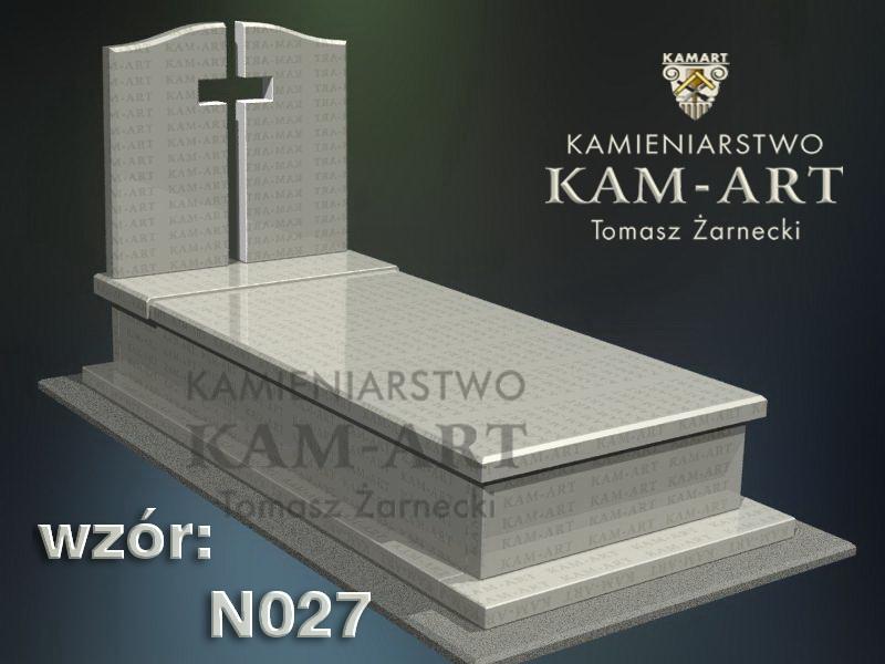 wzór nagrobka granitowego kamieniarstwo Kraków 27
