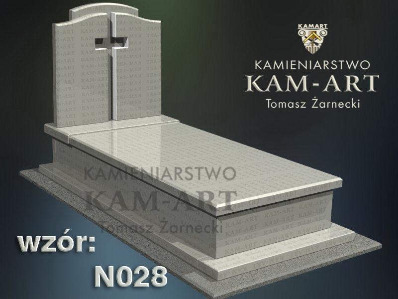 wzór nagrobka granitowego kamieniarstwo Kraków 28