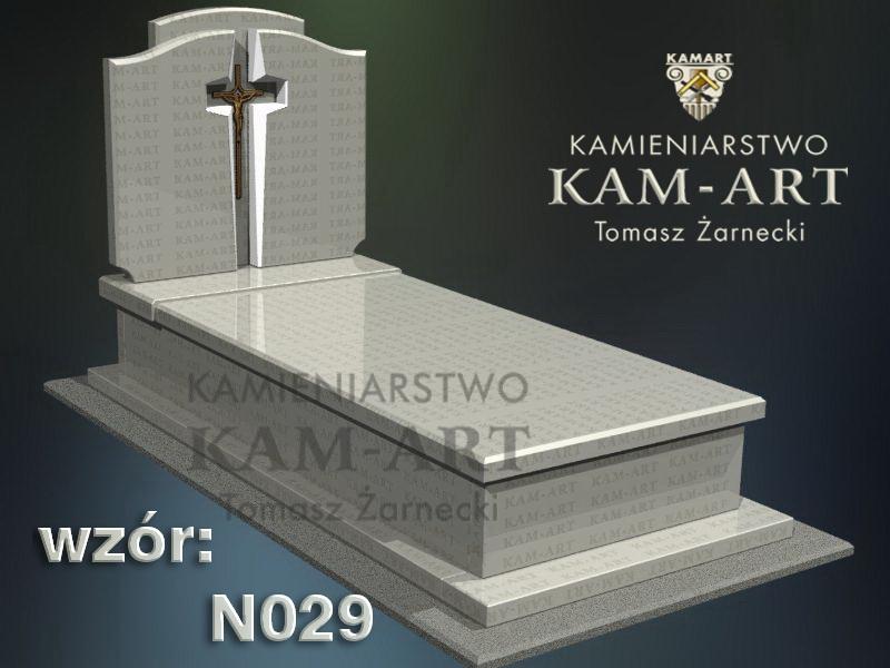 wzór nagrobka granitowego kamieniarstwo Kraków 29