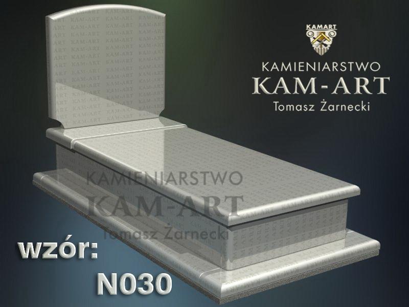 wzór nagrobka granitowego kamieniarstwo Kraków 30