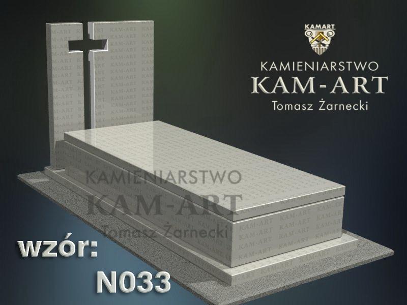 wzór nagrobka granitowego kamieniarstwo Kraków 33