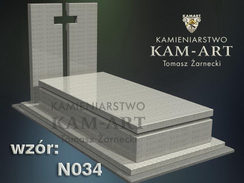 wzór nagrobka granitowego kamieniarstwo Kraków 34