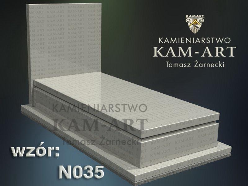 wzór nagrobka granitowego kamieniarstwo Kraków 35
