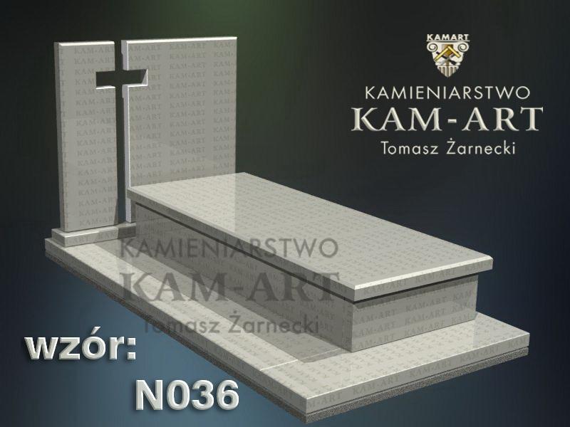 wzór nagrobka granitowego kamieniarstwo Kraków 36