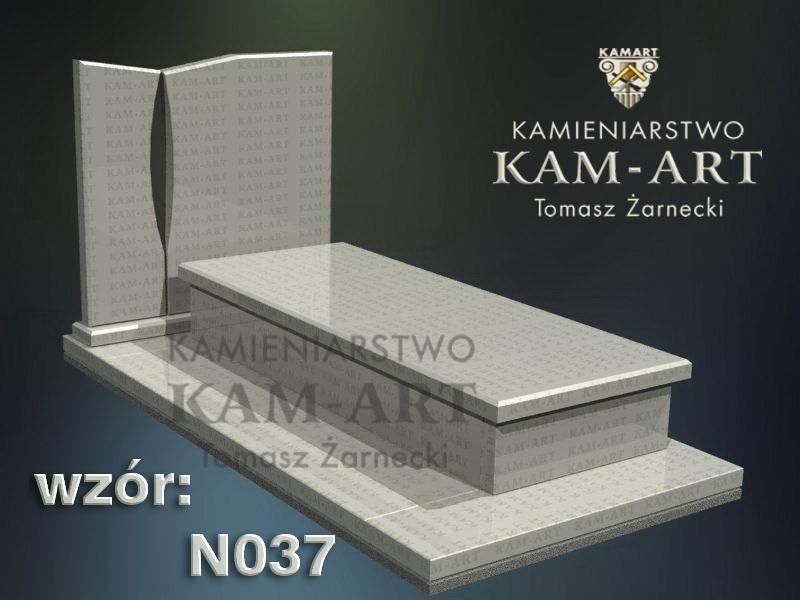 wzór nagrobka granitowego kamieniarstwo Kraków 37