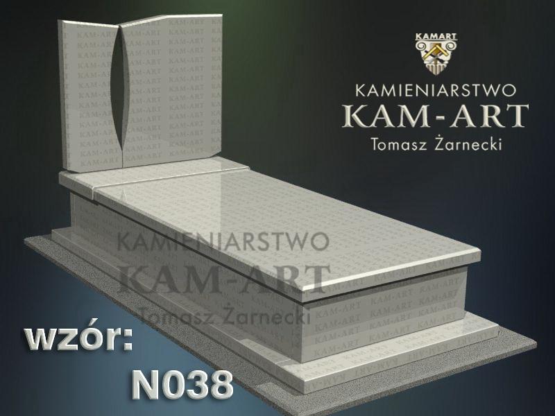 wzór nagrobka granitowego kamieniarstwo Kraków 38