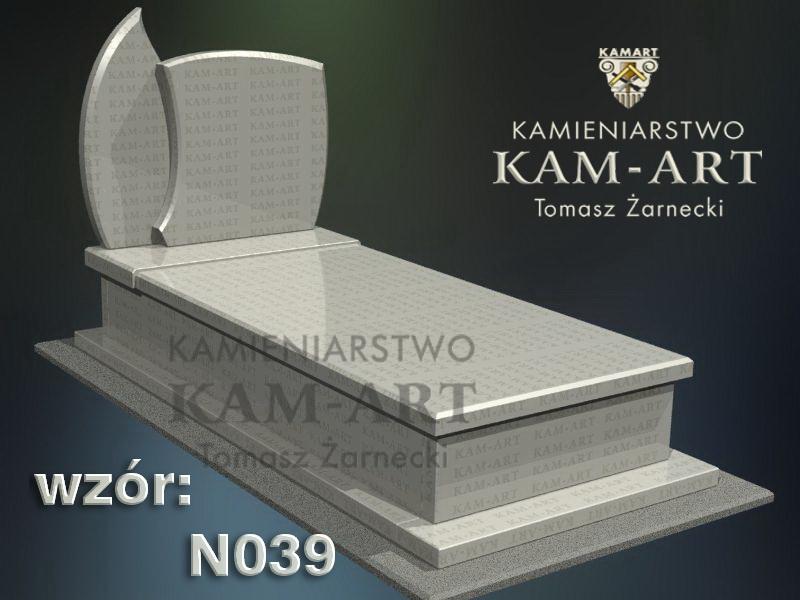 wzór nagrobka granitowego kamieniarstwo Kraków 39