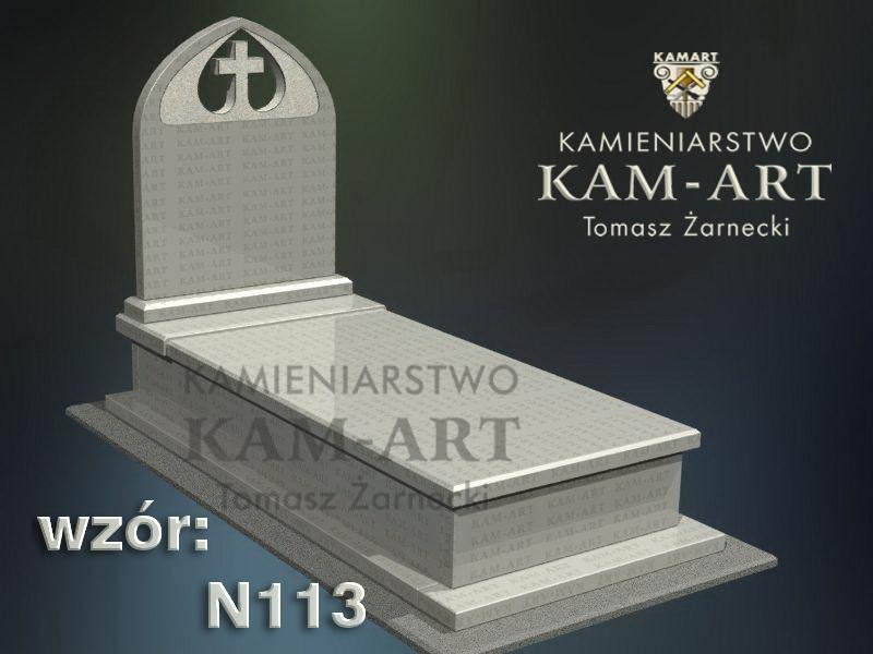 wzór-nagrobka-granitowego-kamieniarstwo-Kraków-113