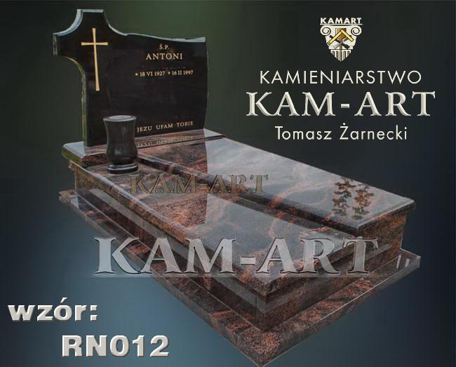 pomnik na grób ziemnny w krakowie z granitu aurora i czarny szwed