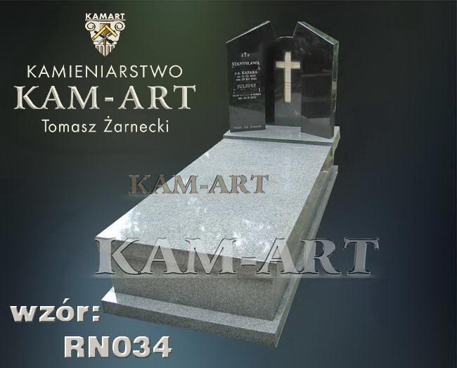 nagrobek z granitu kuru grey cmentarz Rakowicki Kraków