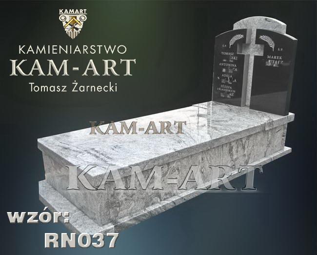 nagrobek z granitu Wiscont White na cmentarzu Rakowickim w Krakowie