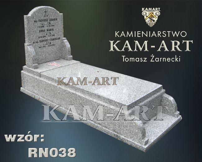nagrobek z granitu strzegomskiego cmentarz Grębałów w Krakowie