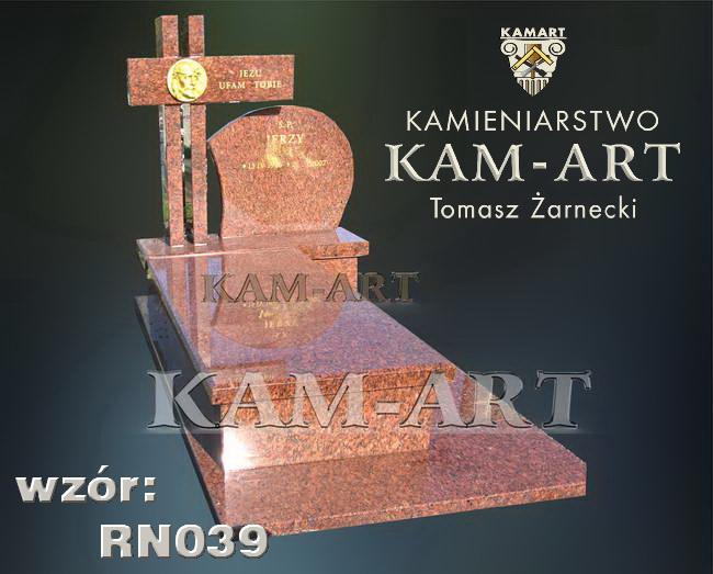 nagrobek z granitu vanga na cmentarzu Prądnik Czerwony Kraków