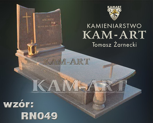 nagrobek z granitu Bohus Red Kraków Batowice