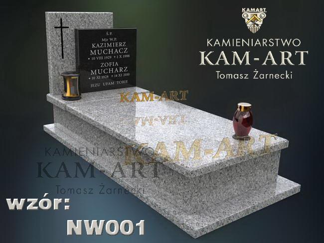 projekt nagronka z granit Strzegomskiego na cmentarz krakowski