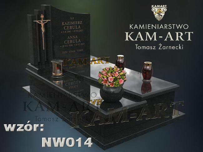 nagrobek z granitu projekt Kraków