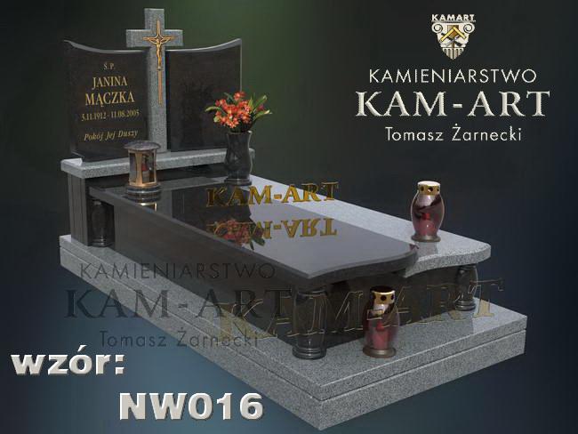 projekt nagrobka wzór mieszany Kraków