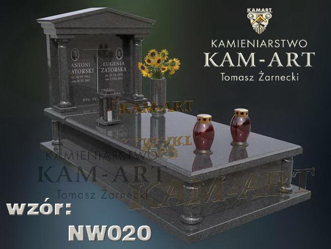 nagrobek z impali projekt na cmentarz Pradnik Czerwony w Krakowie