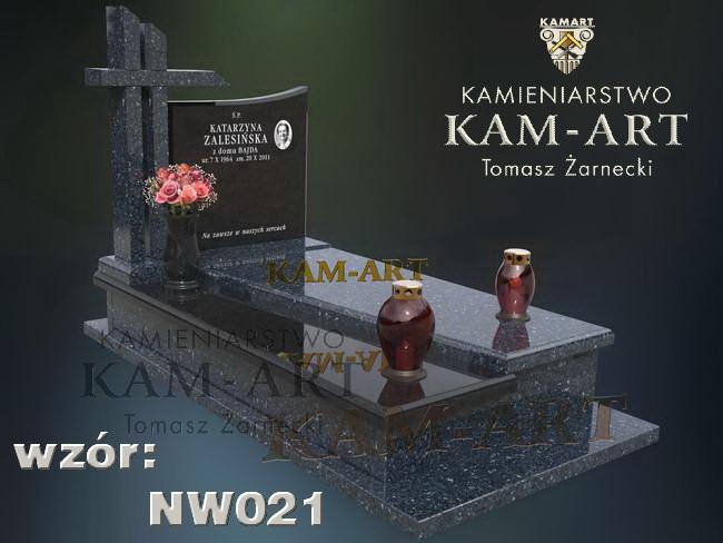 projekt nagrobka z granitów do Krakowa