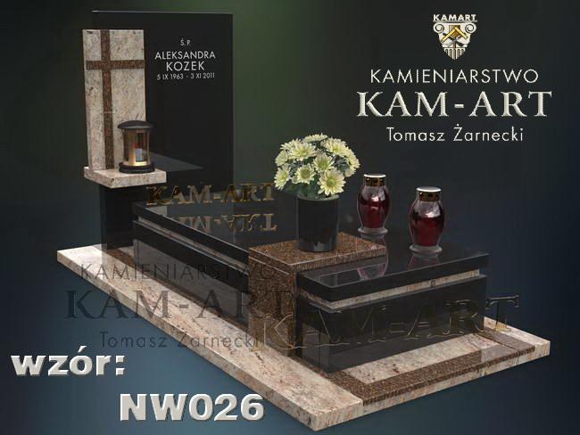 nagrobek mieszany projekt do Krakowa
