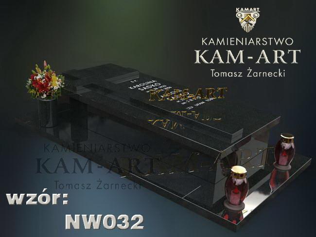 nagrobek typu sarkofag Kraków granit czarny