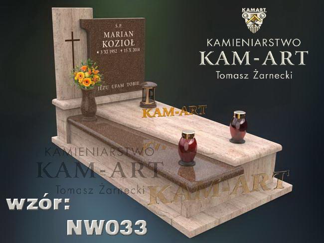 granit astoria gold Kraków projekt nagrobka