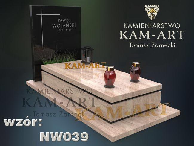 nagrobek nowoczesny z granitu shinvakashi na cmentarz w Krakowie