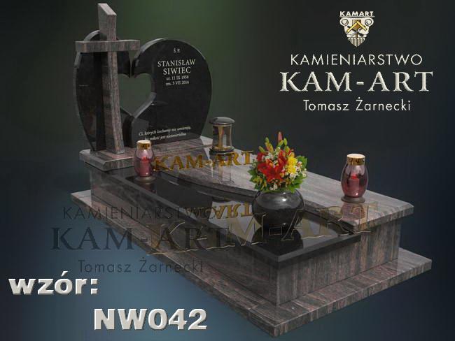 Kraków projekt nagrobka z mieszanych kamieni