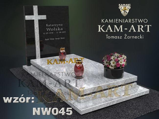 nowoczesny projekt nagrobka do Krakowa