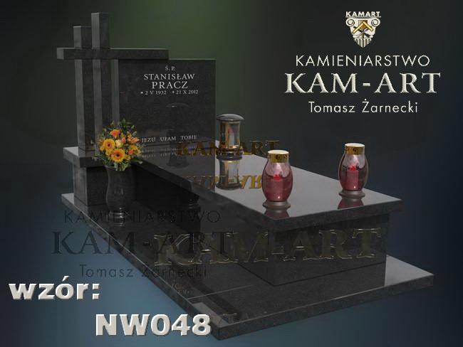 projekt nagrobka z granitu Kraków