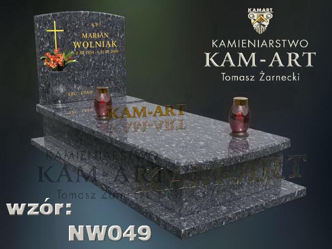 nagrobek z granitu do Krakowa projekt