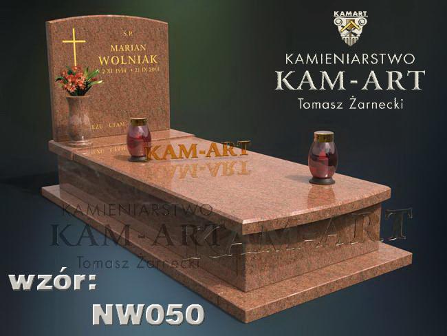projekt nagrobka Kraków wariant czerwony